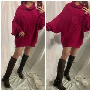 NWOT FREE PEOPLE Turtle Neck Oversized Sweater